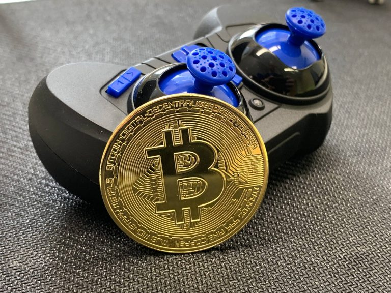 Bitcoin Chilling With Tiny Joystick