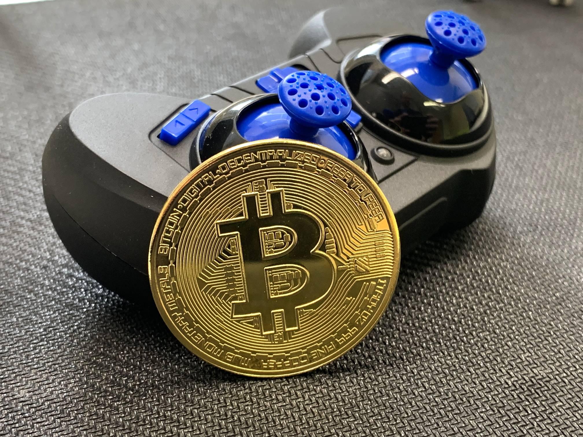 Bitcoin Chilling With Tiny Joystick